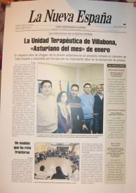"""""""Asturiano del mes"""" para la Unidad Terapeutica y Educativa"""